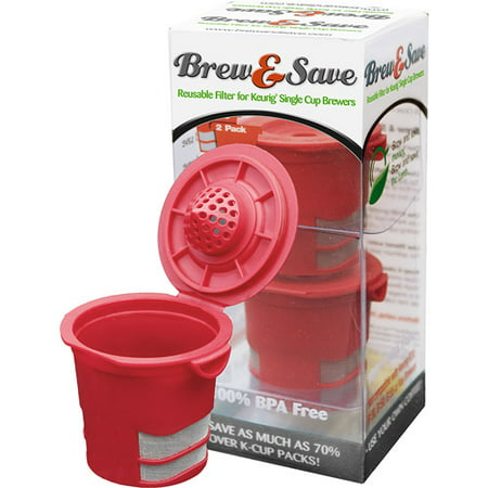 Brew & Save Reusable KCup BPA Free Plastic Reusable Keurig Kcup Filter