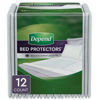 Depend Bed Pads/Underpads for Incontinence, Waterproof, Overnight Absorbency, 12 Count