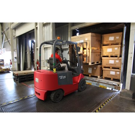 Canvas Print Warehouse Forklift Machine Industry Pallet Worker Stretched Canvas 10 x (Five Ten Warehouse Sale)