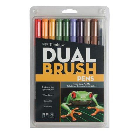 Tombow Secondary Color Dual Brush Pens Set, 10 Pieces](Brush Pen Set)