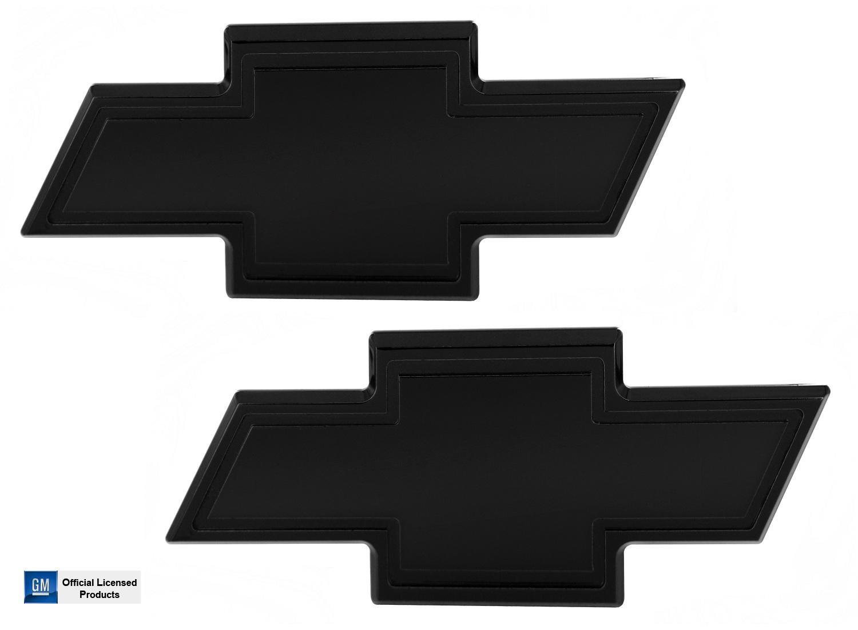 All Sales 96101K Grille /& Tailgate Emblem Set Black Chevrolet Bow-Tie w//Borde