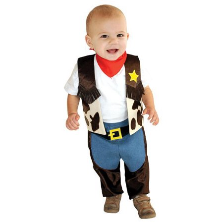 Boys Mullin Square Halloween Costume : Little Cowboy Infant Costume 6-18 months