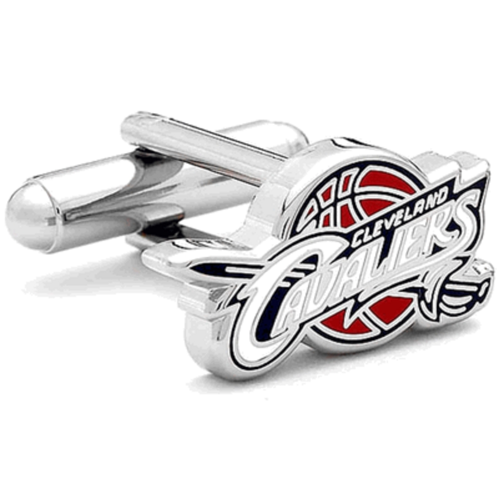 Nickel Plated Cleveland Cavaliers Logo Cufflinks