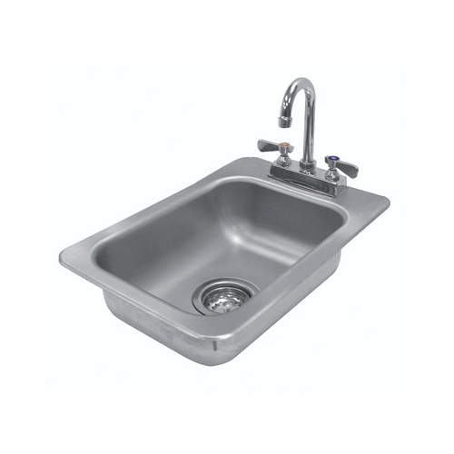 Advance Tabco 304 Series 13'' x 19'' Single Seamless Bowl Drop-in Hand Sink with Faucet by Advance Tabco