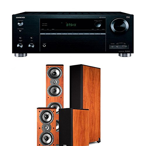 Onkyo TX-RZ710 7.2-Channel Network A V Receiver + Polk Audio TSi 500 + Polk Audio TSi 200 Home Theater Package (Cherry) by Onkyo