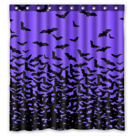 GCKG Halloween Thousands of Bats Waterproof Polyester Shower Curtain Bathroom Deco 66x72 inches