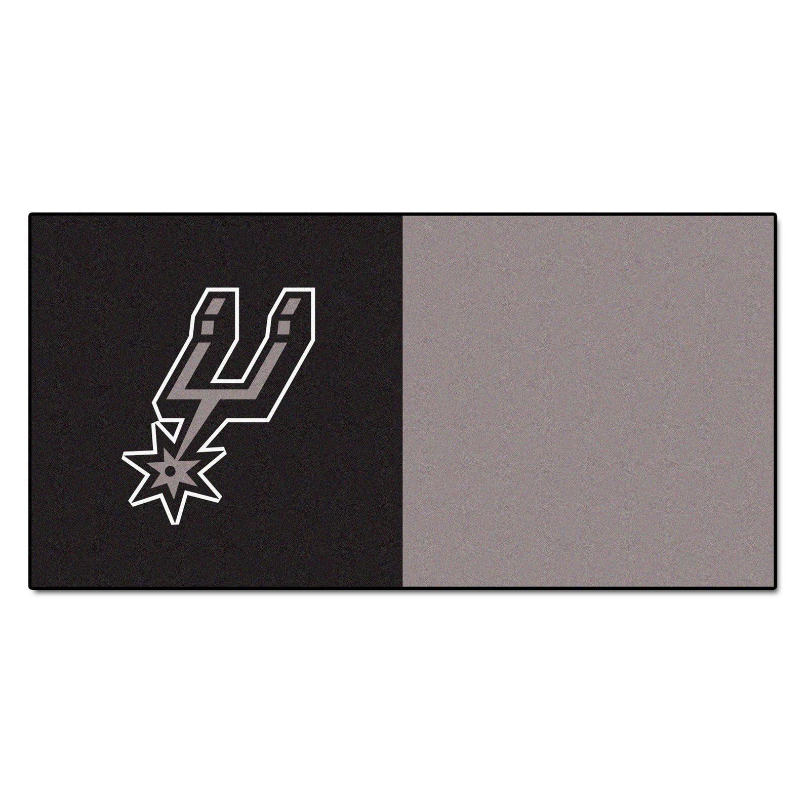 """Fanmats NBA - San Antonio Spurs Carpet Tiles 18""""x18"""" tiles"""