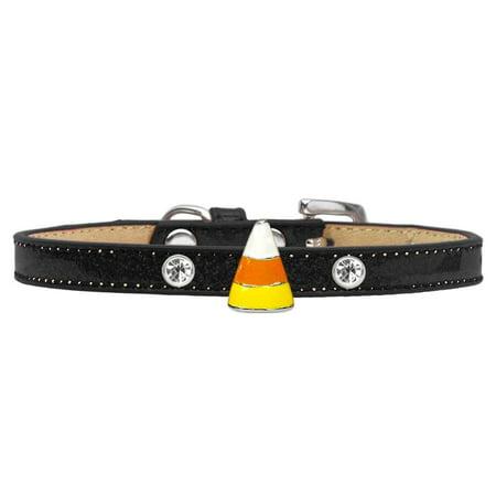 Ghost Charm Dog Collar Black Ice Cream Size 10