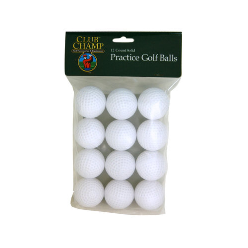 Club Champ 12-Pack Solid Practice Golf Balls, White