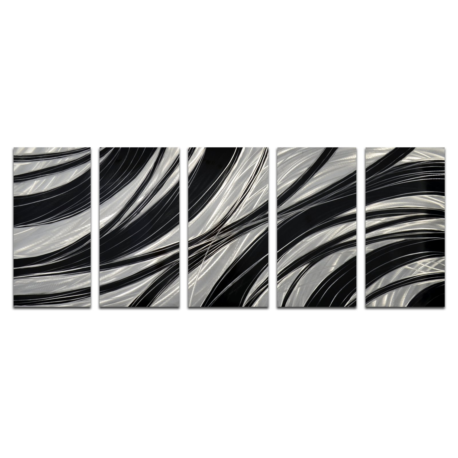 OMAX Coiling Infinity Handmade Modern Metal Wall Art - Set of 5