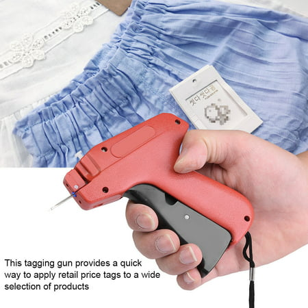 Mgaxyff Tagging Gun,Plastic Price Label Tagging Gun Commercial Tagger for Clothes Garment Shop, Clothing Tagging Gun Features:This tagging gun provides a quick way to apply retailprice tags to a wide selection of products. Small size and light weight, well designed handle is comfortable to hold.Convenient to use, tagging with this gun is much fasterthan manually tagging.Use it toeliminate confusion over item prices and make the checkout processeasier for customers and employees. Widely used for garment shops, supermarkets, clothing industry, etc.Specification:Material: PlasticSize: 14*12.5cm / 5.5*4.9inWeight: 104g / 3.7oz (approx.)Package list:1 *Tagging Gun  Instruction:1, Insert tag barbs into the top slot on tagging gun.2, Put on label,pass needle through label hold and fabric, press the trigger.3, Install blade, when insert new blade,install it on the right place carefully, namely insert it to the top.4, Adjust needle, align needle cap toneedle tip, rotate needle bar forward, and pull out the needle.Note: Do not point the tagging gun to human or animals. Do not give it to children as a toy, the needle is quite pointed.
