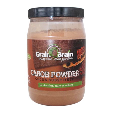 Grain Brain Natural Carob powder (16 oz) (Raw Carob Powder)