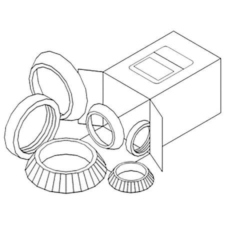 WBKCA4 New Wheel Bearing Kit Made to fit Case-IH Tractor