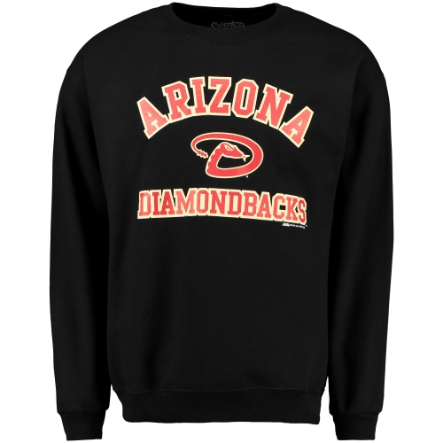 Arizona Diamondbacks Stitches Fleece Crew Neck Sweatshirt - Black