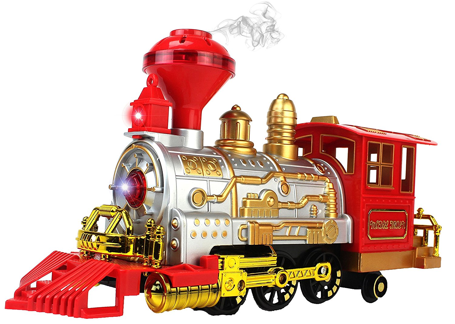 Classical Series Battery Operated Children's Bump and Go Toy Train w  Lights, Sounds, &... by Velocity Toys