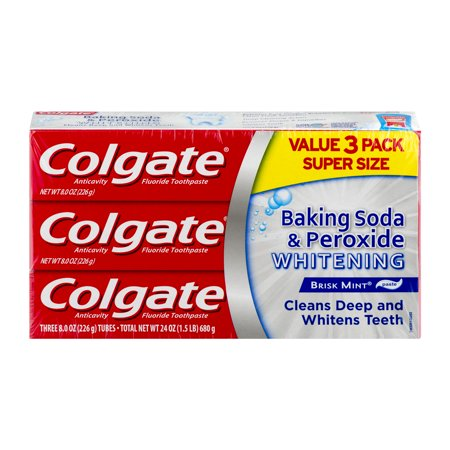 colgate baking soda and peroxide whitening toothpaste 8 oz 3 count walmart inventory. Black Bedroom Furniture Sets. Home Design Ideas