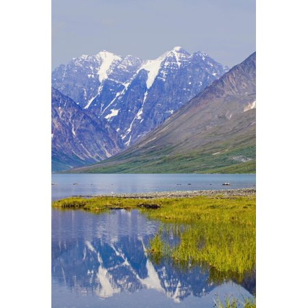 Turquoise Lake Below Telaquana Mountain Lake Clark National Park Southcentral Alaska Summer Canvas Art - Michael DeYoung  Design Pics (24 x 38)