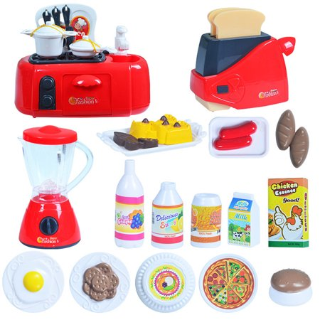 Outgeek Kitchen Appliance Toy Set Creative Mini Pretend Play Kitchen ...