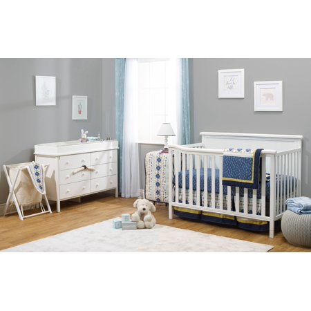 Sorelle Berkley Elite Room in A Box, White, Includes: Crib, Dresser, Changing Topper, & Hamper Four Piece Crib
