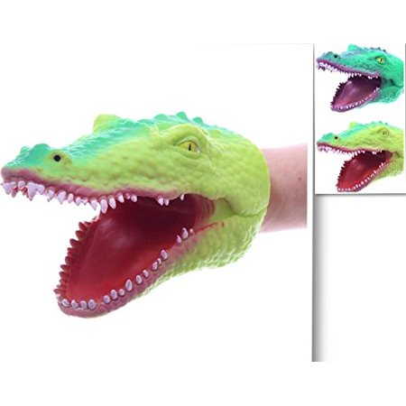 1 Pack - Soft Rubber Realistic 6 Inch Alligator Hand Puppet (Each sold Seperately), Comfortable to wear. By Sureshot