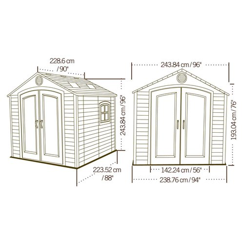 Lifetime 8' x 7.5' Outdoor Storage Shed by Lifetime