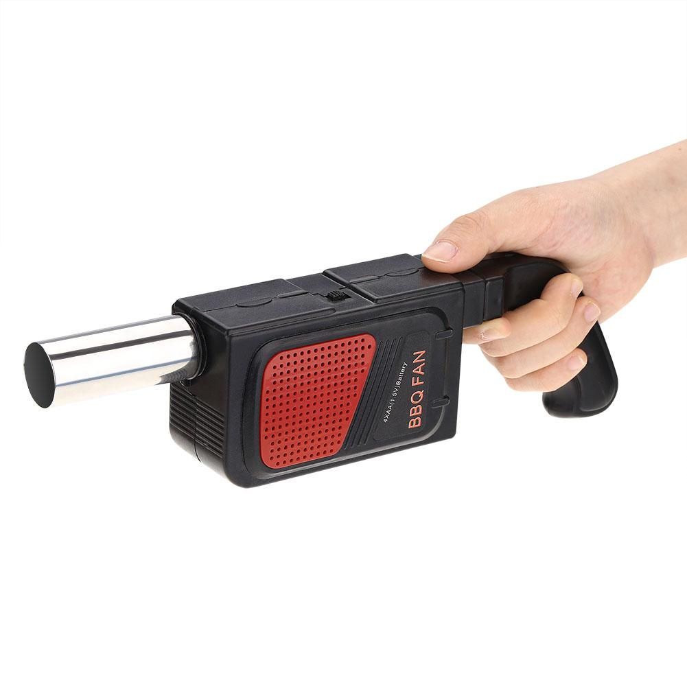 Handheld Battery Powered Barbecue Fan//Ignition Tool Dulau 1 Pieces BBQ Air Blower Electric Blower Portable Barbecue Ventilator for Outdoor Camping Picnic Charcoal Grill Barbecue