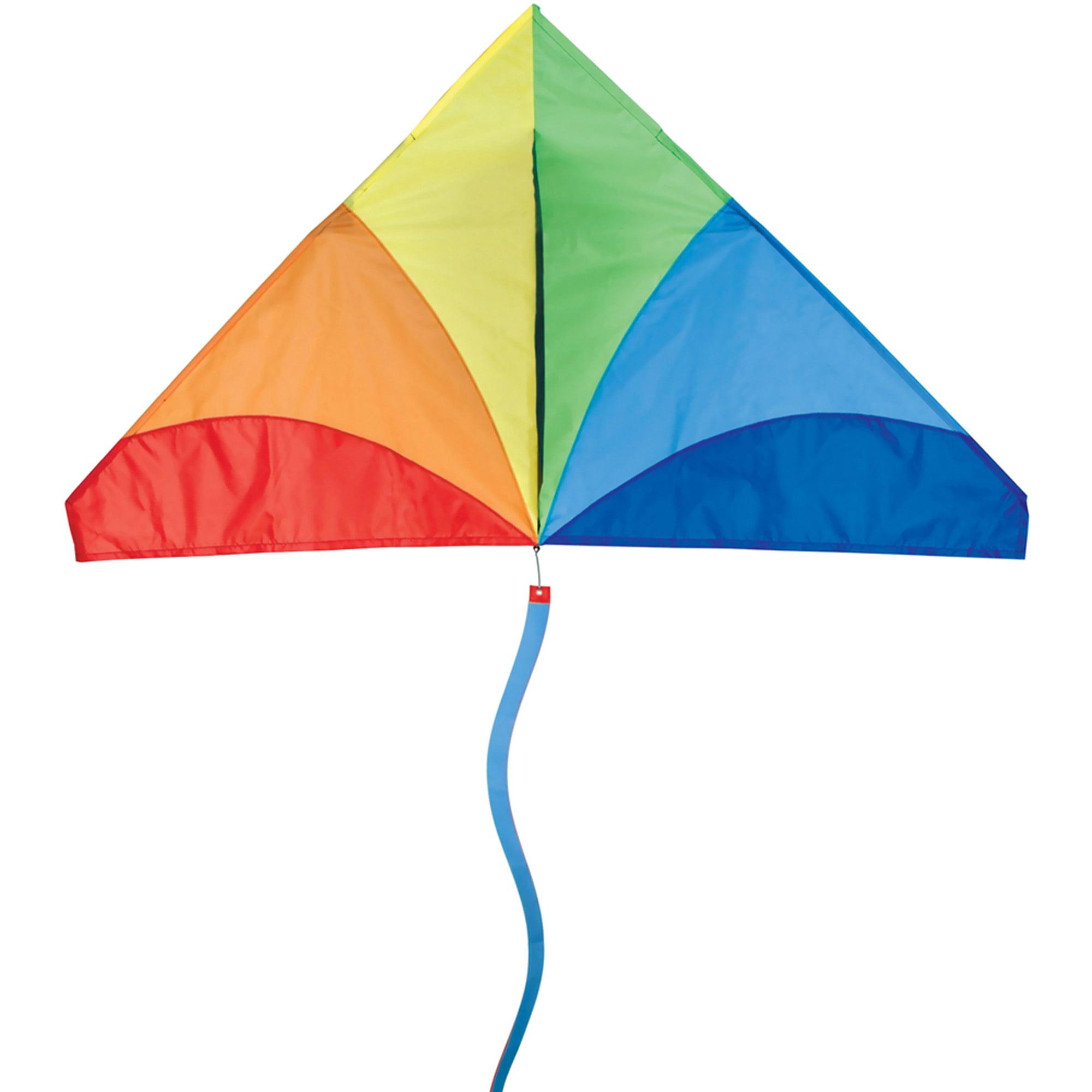 Bold Innovations Delta Kite, Traditional Rainbow