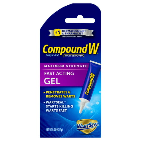 Compound W Fast Acting Gel, Salicylic Acid Wart Remover, 0.25 (Best Genital Wart Removal Cream)