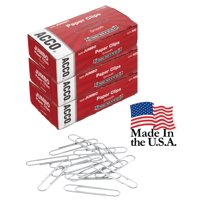 Acco Economy Jumbo Smooth Paper Clips, 3 Boxes of 100