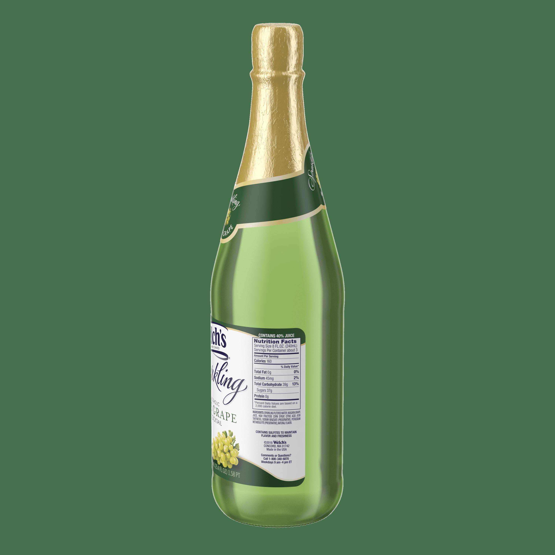 Welchs Sparkling Juice Cocktail White Grape 254 Fl Oz 1 Count
