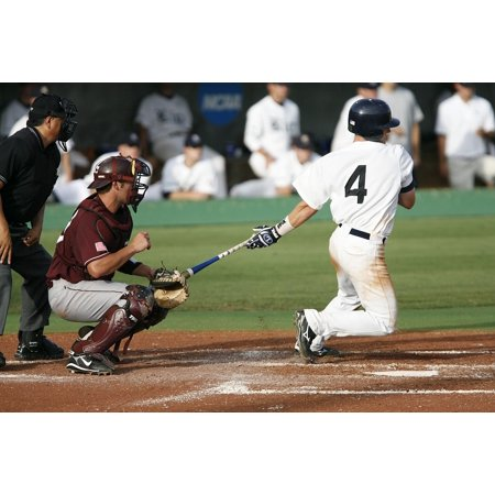 LAMINATED POSTER Hitter Home Run Swing Baseball Baseball Player Poster Print 24 x