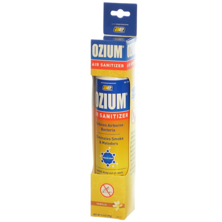 Smoke Odor Eliminator - Ozium Smoke & Odor Eliminator Air Sanitizer / Freshener 3.5oz VANILLA