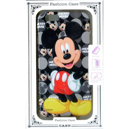 Disney Classic Mickey Mouse Monogram for iPhone 6 6G Rubber Soft Case Black & Grey, Built-in short circuit and over-charge protection. Safety First! By Phoneaholic (Clear Mickey Mouse Iphone 6 Case)