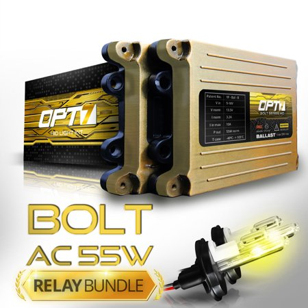 Bolt AC 55w HID Xenon Conversion Kit w/ Relay & Capacitors Bundle 9004 Hi-Lo [3000K Fog Yellow] 2 Yr Warranty Conversion Kit 9004 Bulb