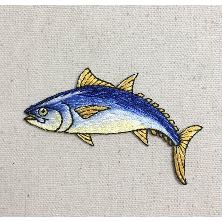 Bluefin Tuna Fish - Fishing - Iron on Applique/Embroidered Patch