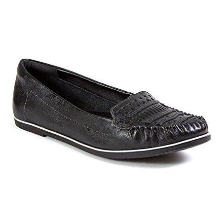 Ramarim 1581102 Total Comfort Leather Driver Cutout Applique Moc Loafer shoes (38, Black)