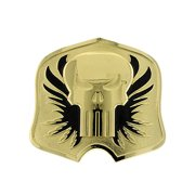 1928 marvel men's punisher gold tone skull & flames logo belt buckle 13631