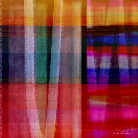 Abstract cross lines I Rolled Canvas Art - Joost Hogervorst (12 x