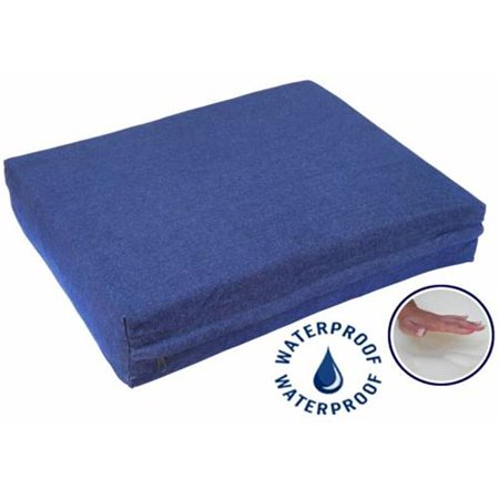 Go Pet Club DD-36 Solid Memory Foam Orthopedic Dog Pet Bed with Waterproof Cover, Denim - image 1 of 1