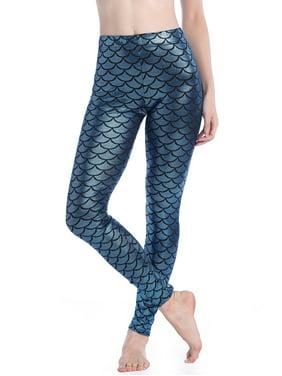 cccc2ffef5 Product Image LELINTA Women Leggings Seamless Blue Shiny Mermaid Fish Scale  Printed Tights Panty Leggings Regular Size S