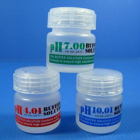PH 4.01/7.0/10.01 buffer solution SET 20ml Calibration Fluids aquarium PH (Pond Ph Buffer)
