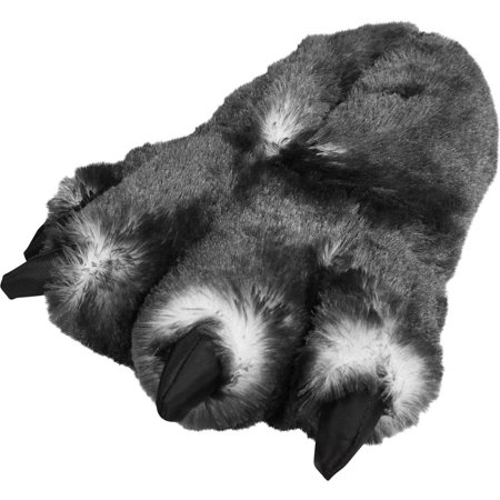 Norty Norty Grizzly Bear Stuffed Animal Claw Slippers Plush Paw