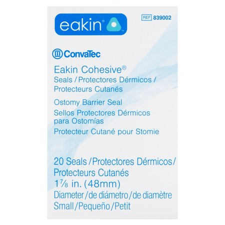 ConvaTec Eakin Cohesive Small Ostomy Barrier Seals, 20 count