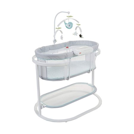 Fisher-Price DPV71 Soothing Motions Swaying Baby Bassinet with Lights and Sounds (Fisherprice Bassinet)