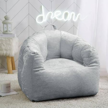 Urban Shop Kids Velvet Bean Bag Chair
