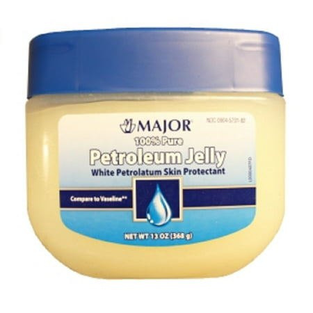 Major Petroleum Jelly 100% Pure Petrolatum-N/A White 13 Oz  Upc 309045731826](White Jelly)