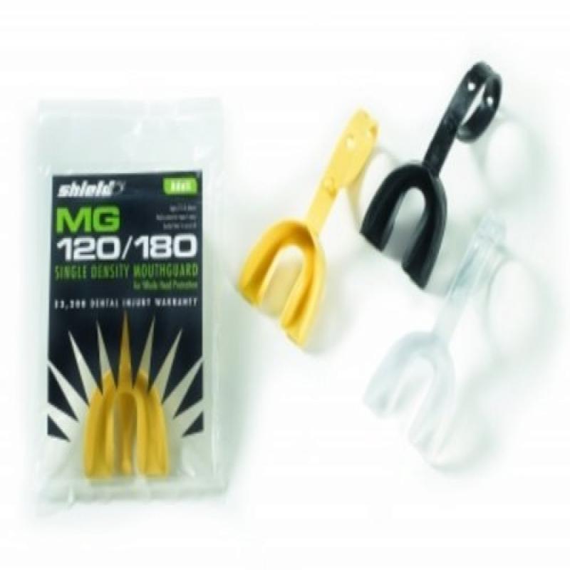 Shield Adult Football Strapguard Mouthguard Mount Teeth Guard w/Strap - Yellow