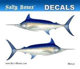 Salty Bones BPF9448M Decal Mini-Mako Shark