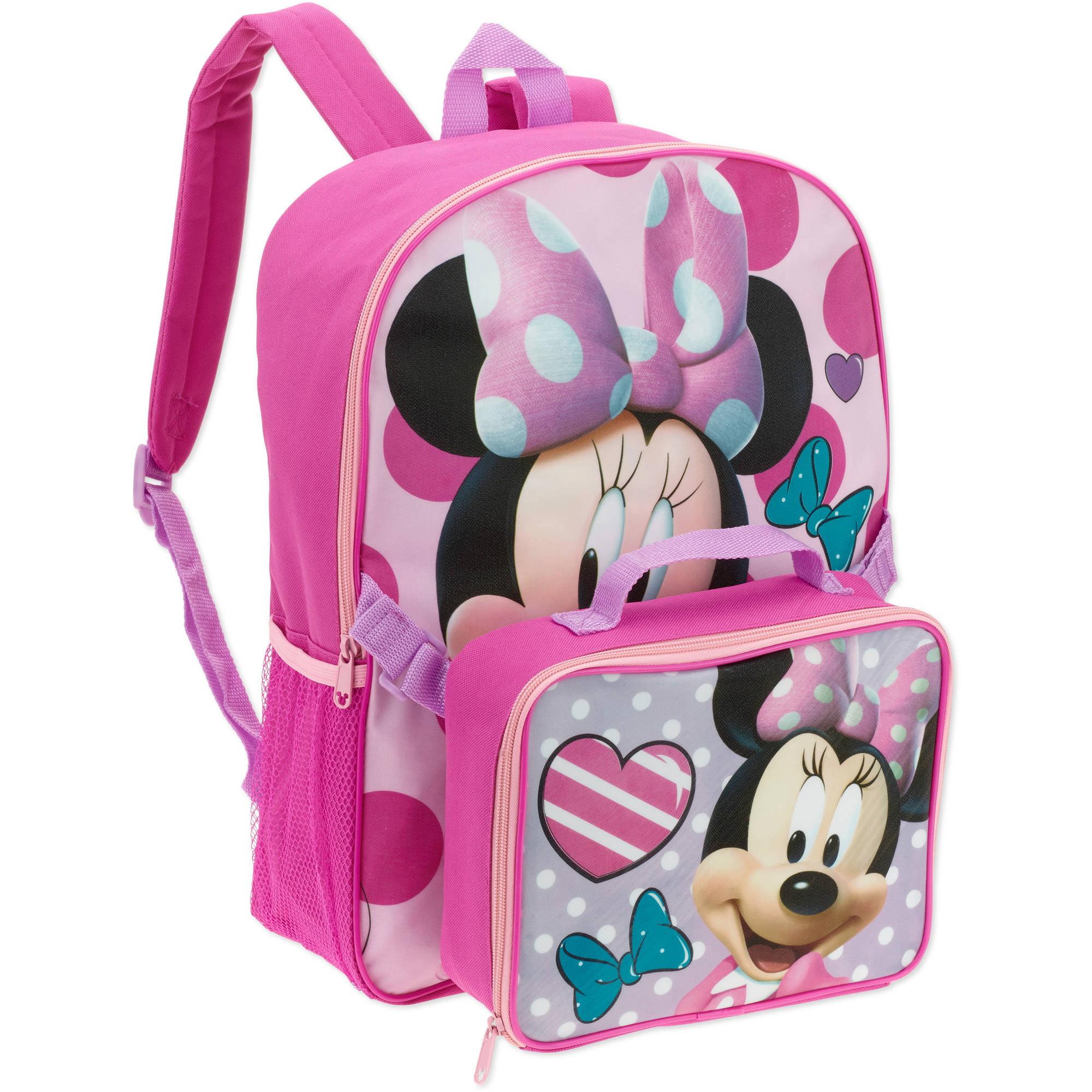 5504e8e736ff MINNIE MOUSE - Minnie Backpack with Lunch Box - Walmart.com