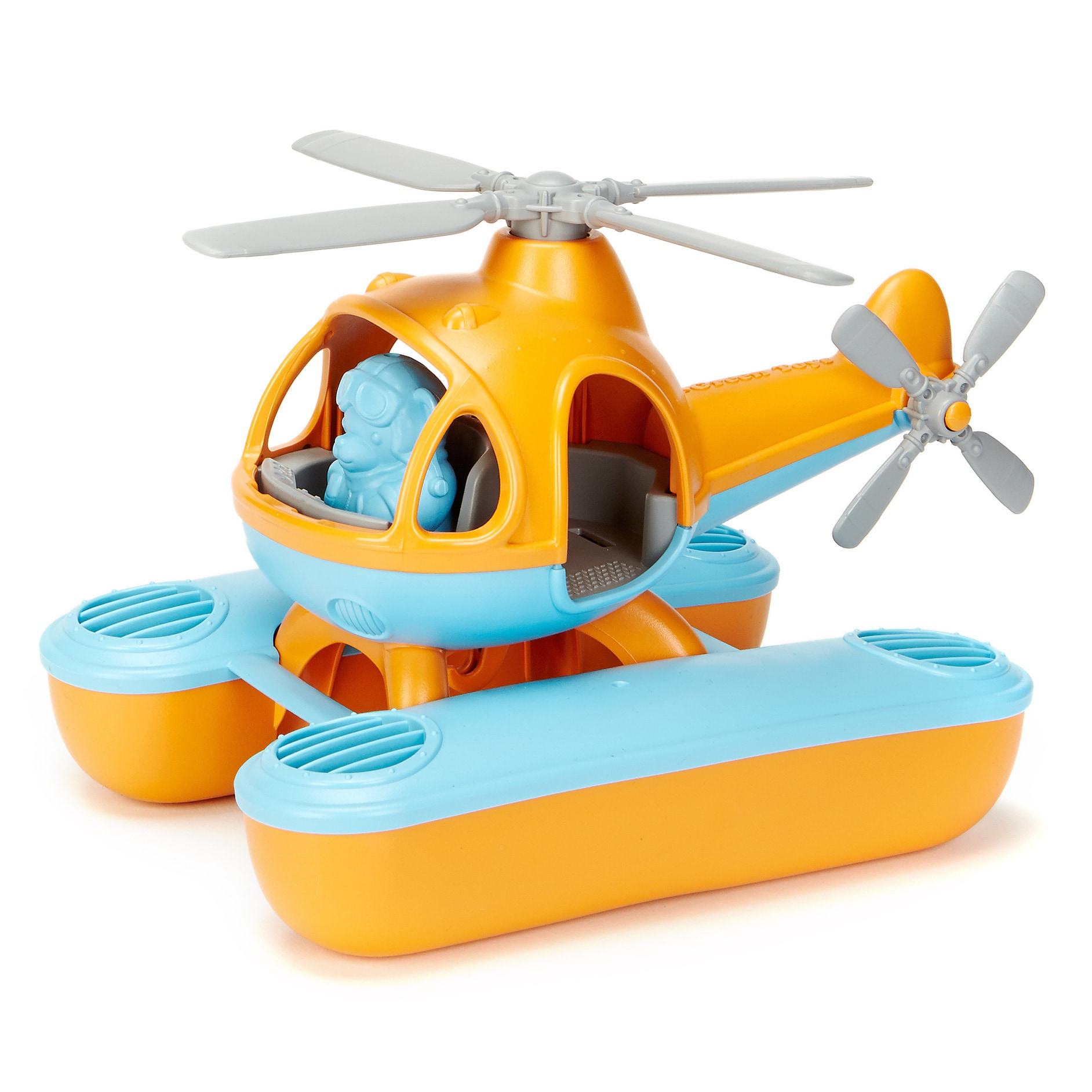 Green Toys Seacopter Bath Toy, Orange Top